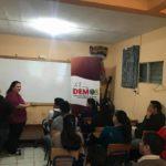 Taller uso responsable y seguro de las TICS con jóvenes de Comalapa